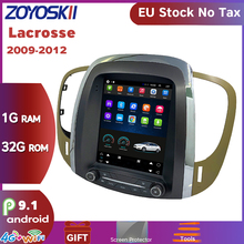 Zoyoskii carro android 9.0 10 multimídia rádio bluetooth gps para buick lacrosse gm alpheon 2009-2012 10.4 polegada tela vertical