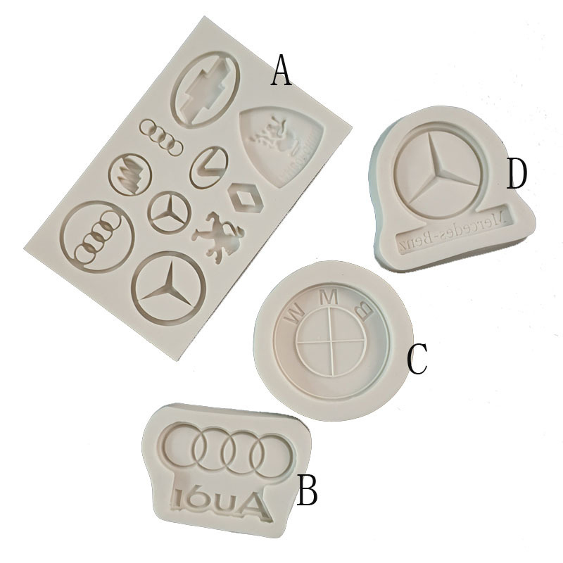 Car Logo Shaped Cake Mould DIY Fondant Silicone Mold Baking Chocolate Cake Decoration Tools Bakeware Tools Pastry Cookie Moulds