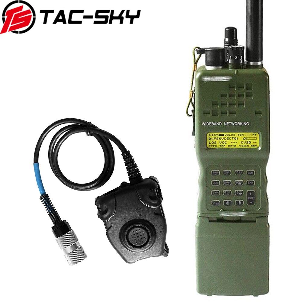 TAC-SKY 6 Pin Peltor Ptt+tactical Headset Interphone Model Radio Military Harris Virtual Case AN/PRC152 152A Radio Virtual Box
