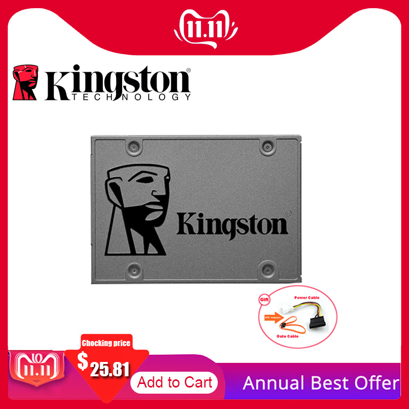 <font><b>Kingston</b></font> High Quality HD <font><b>SSD</b></font> HDD Hard Drive <font><b>120</b></font> <font><b>GB</b></font> <font><b>SSD</b></font> SATA 3 60GB 240 <font><b>GB</b></font> 480GB 960GB 1TB HHD 2.5'' Disk For Notebook Promotion image