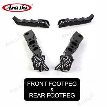 Arashi 1 Set For SUZUKI GSXR1300 HAYABUSA 2008-2017 Front Rear Foot Pegs Pedal Footrest Rearset GSX R GSXR 1300 GSX1300R 2013