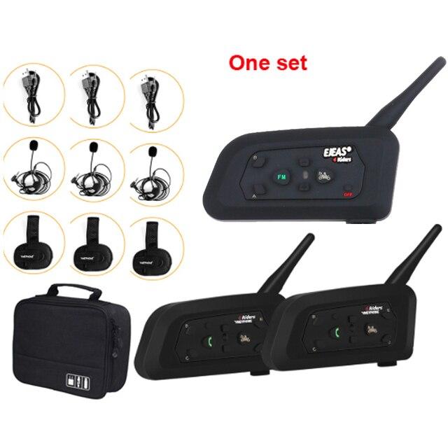 3 pièces/ensemble 1200M interphone Duplex intégral 3 voies entraîneur de Football judeur écouteur arbitre système de Communication BT interphone