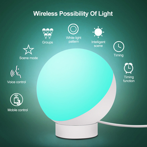Image 5 - Wifi Smart Table Lamp RGBW 7W Dimmable Control Timer Switch Alexa Google home Voice Control LED Desktop Night Light Smart life