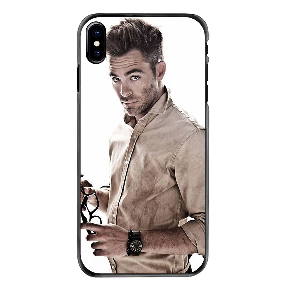 For LG G6 L90 V20 Nexus 5X K10 Moto E E2 E3 G G2 G3 G4 G5 PLUS X2 Play Chris Pine Seattle great smile Hard Black Skin Case Cover image