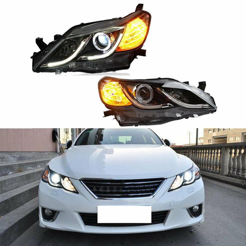 For Toyota Mark X/Rezi 2010 2011 2012 2pcs Halo Light Bulb Headlight Assembly Xenon