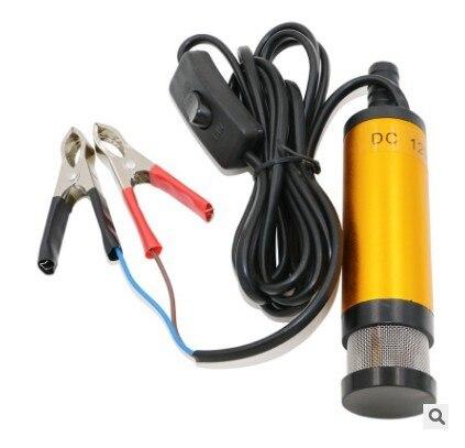 Tragbare Mini 12V 24V DC Elektrische Tauch Pumpe Für Pumpen Diesel Öl Wasser Aluminium Legierung Shell 12L/ min Kraftstoff Transfer Pumpe