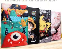 Painted Fashion Stand PU Leather Case for Huawei MediaPad T5 10 Case AGS2 W09 AGS2 L09 AGS2 L03 10.1 Tablet Cover + Pen + Film