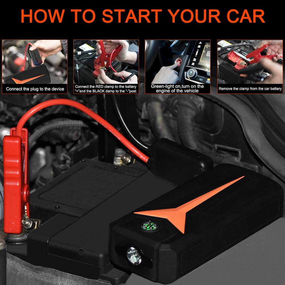 Car Jump power bank Device Vehicle Emergency Start  6