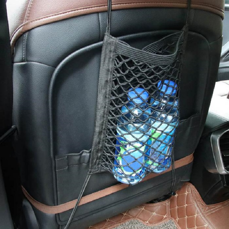 Car trunk Net Auto Seat Storage Net bag Universal Automobiles Mesh Organizer Pocket file for Stowing Tidying Vehicle Accessories