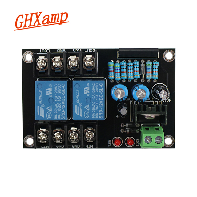 GHXAMP UPC1237  2.0 Speaker Protection Board Songle Dual Channel 300W*2 AC/DC 12 18V