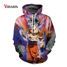 Stylish Mens Womens 3D Sweatshirt Dragon Ball Z Super Goku Anime Hoodies Graphic Print Pullover Cosplay Tracksuit Casual Tops