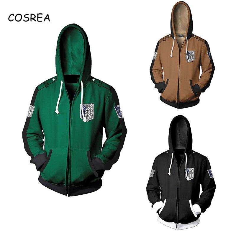 Cosrea Cosplay Costume Attack On Titan Hoodies Sweatshirts Wings Of Liberty Tops Coat Shingeki No Kyojin Hoody Hoodie Jacket