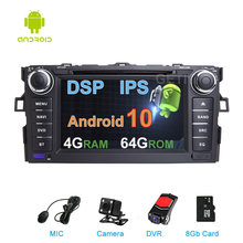 DSP IPS 64G araba dvd stereo multimedya radyo GPS Android 10 Toyota AURIS 2007-2012 İçİn COROLLA ALTIS 2012 -2013(China)