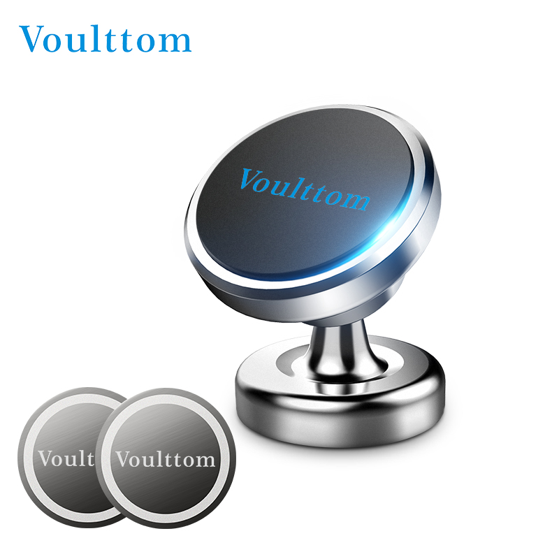 Phone Holder For Car Dashboard | Voulttom Magnetic Phone Holder In Car Universal Car Phone Stand 360 Adjustable Mount For IPhone Samsung Huawei Xiaomi