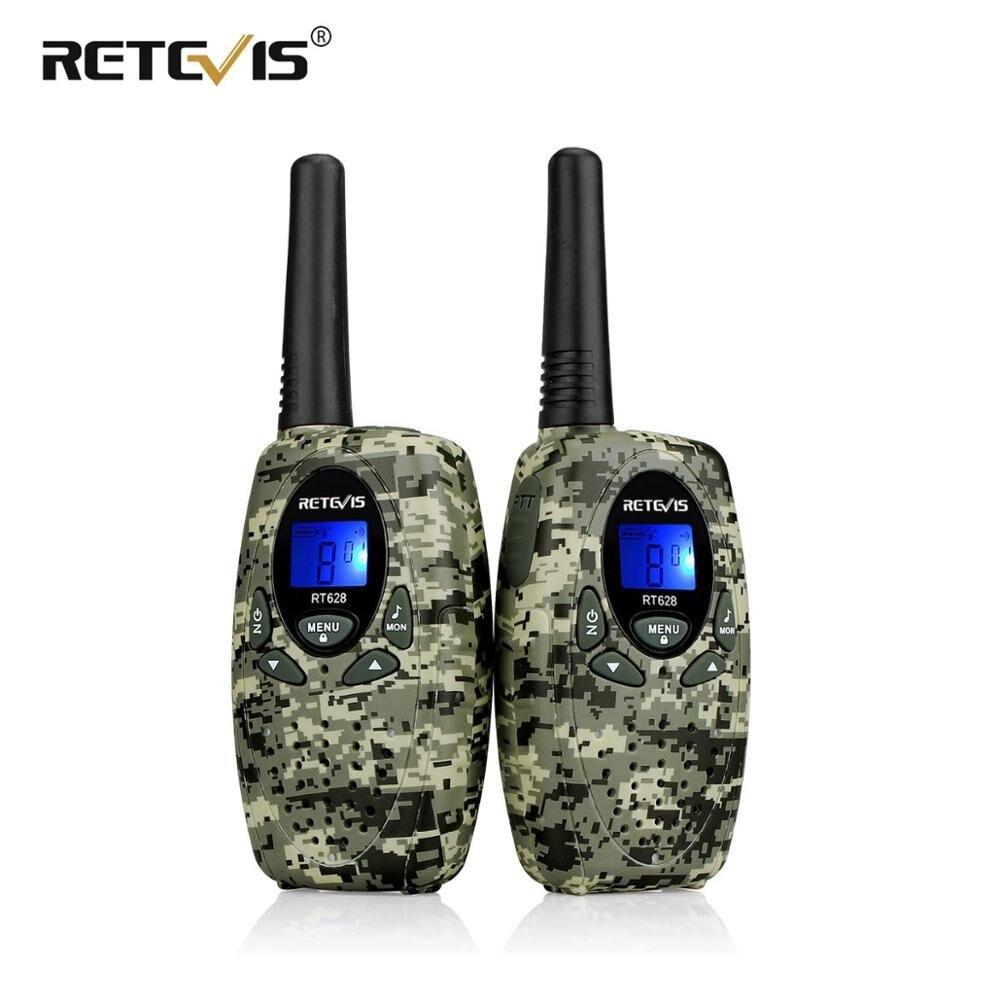 Retevis rt628 brinquedo walkie talkie 2 pçs mini crianças rádio 0.5 w pmr pmr446 frs gmrs 8/22ch vox crianças 2 vias transceptor de rádio presente