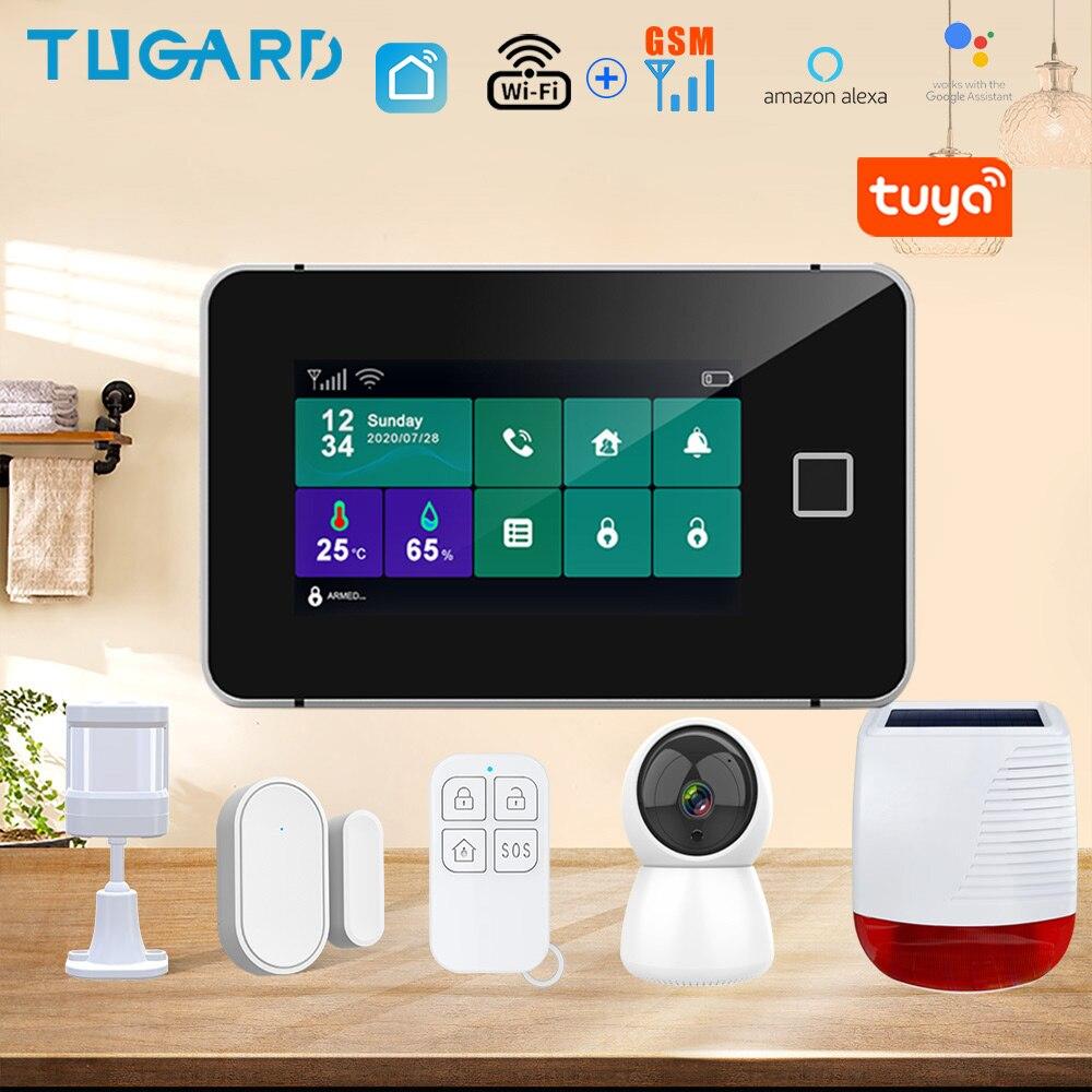 Охранная сигнализация Tuya с IP-камерой, 433 МГц, Wi-Fi, датчик движения, Управление приложениями, комплект сигнализации для умного дома 1