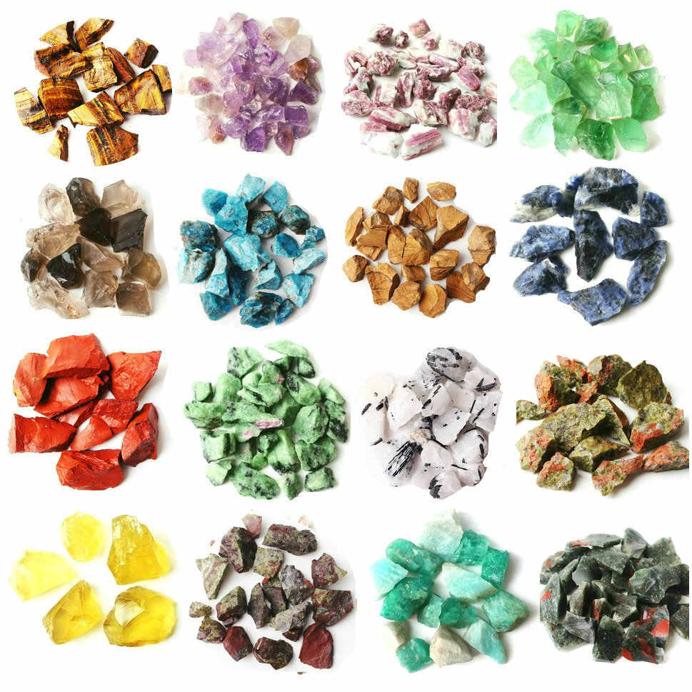 1 Lot/30g Natural Crystal Rough Rock Stone Scientific Research Mineral Specimen Colorful Quartz Healing Decor Reiki Healing
