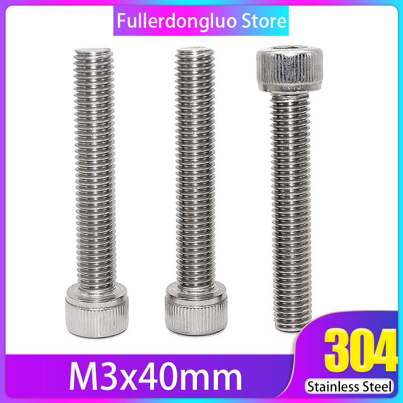 Screw M3x40 50Pcs Stainless Steel 304 Hex Socket Head Cap Screws ( <font><b>m3</b></font>*40 m3x40mm <font><b>m3</b></font> screw <font><b>40mm</b></font> <font><b>m3</b></font> <font><b>40mm</b></font> ) image