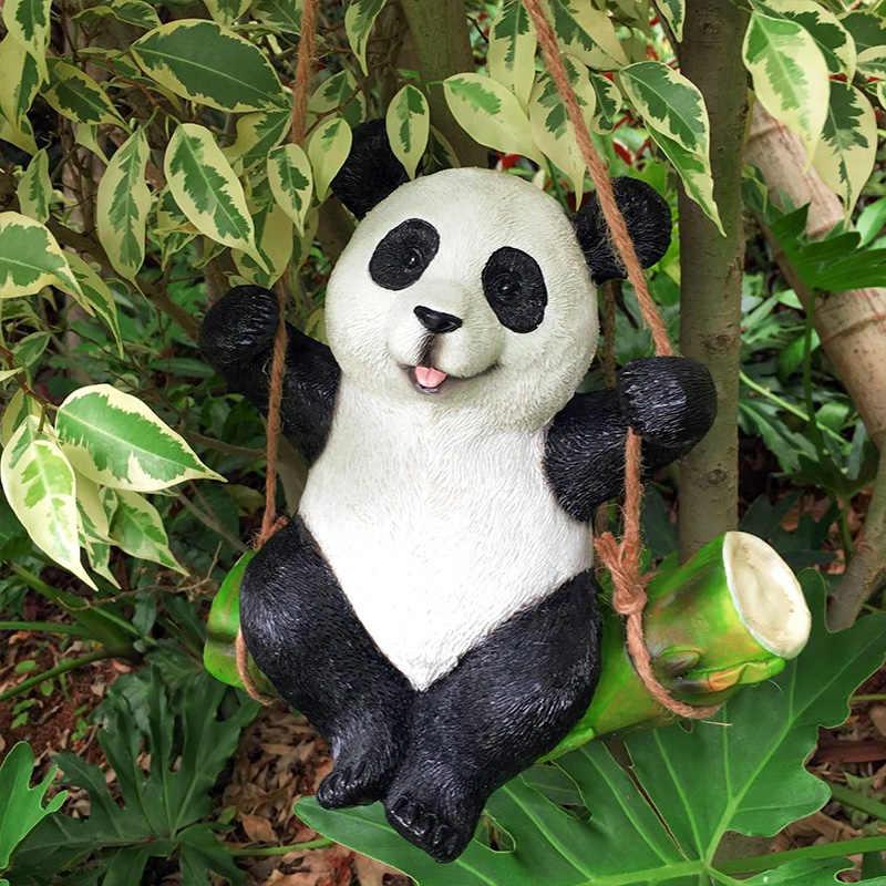 1 шт. украшения для сада, двора, имитация коалы, панды, статуя кролика, скульптура животных, изделия из смолы, украшение для дома, милый орнамент