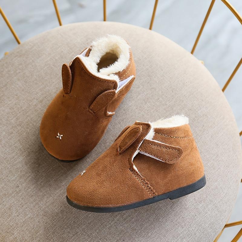 Warm Toddler Newborn Baby Crawling Shoes Boy Girl Lamb Slippers Prewalker Trainers Fur Winter Animal Ears First Walker 0-18M