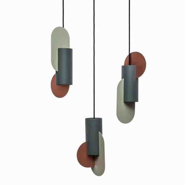 Postmodern Individual Coloured Tieyi Chandelier Designer Office Clothing Store Model Room Restaurant Small Chandelier deco