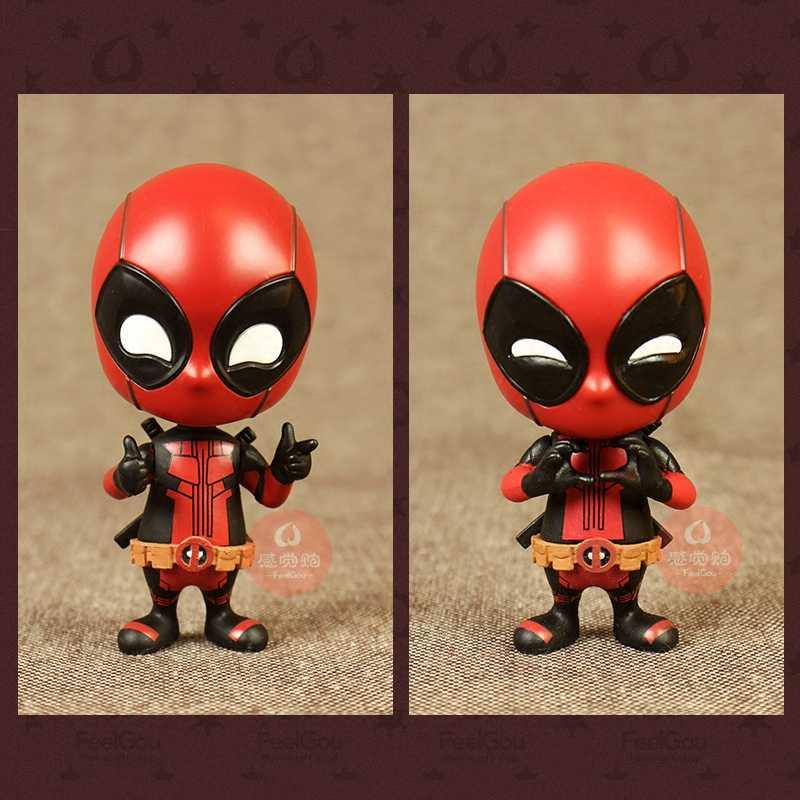 Endgame Vingadores Marvel Deadpool Marvel Q Versão Do Ornamento Do Carro Balançando A Cabeça Da Boneca Decoração Do Carro Do Presente Do Feriado