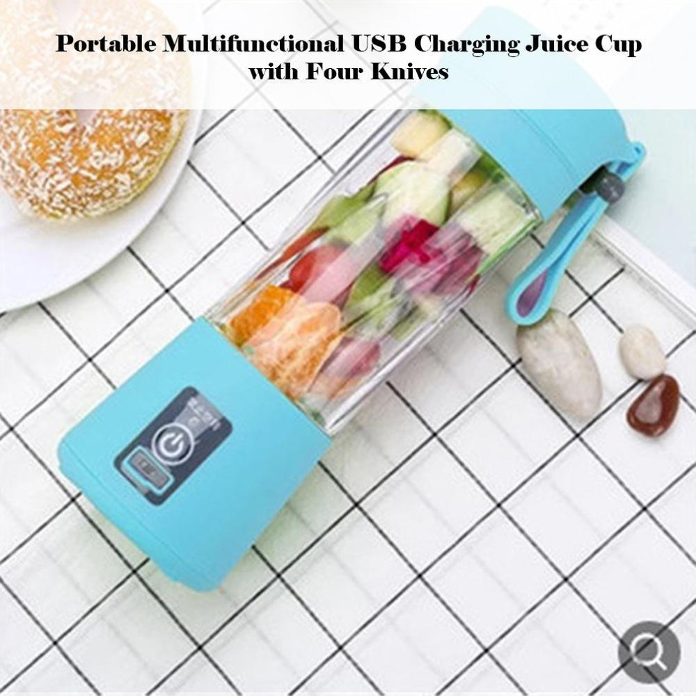 USB قابلة للشحن المحمولة سهلة خلاط عصارة صغيرة متعددة الوظائف USB شحن أكواب عصير الفاكهة الكهربائية عصير خلط كوب