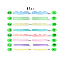 8 пар бигуди завивка силикон подушечки набор ресницы подтяжка комплект аксессуары Y ресницы щетка чистка расческа глаза ресницы наращивание химическая завивка инструменты