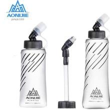 AONIJIE 350 мл 600 мл Складная термополиуретановая мягкая длинная соломенная бутылка для воды, чайник для путешествий, спорта на открытом воздухе, кемпинга, пеших прогулок, бега