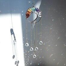 Hanging-Ornament Garden-Decor Suncatcher Pendant Rainbow-Maker Prisms Crystal-Ball Chakra-Tree
