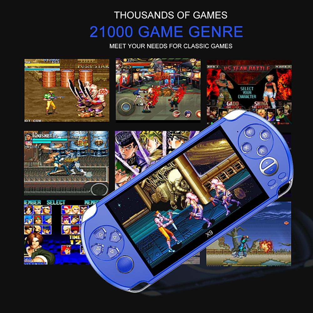 Image 5 - Video Retro Game Console X9 PSVita Handheld Game Player for PSP 
