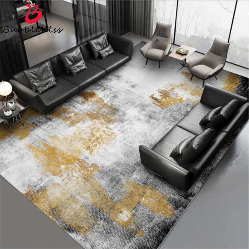 Bubble Kiss Carpets For Living Room Art Abstract Black Gray Gold Ink Pattern Area Rugs Bedroom Sofa Home Decorative Floor Mat Carpet Aliexpress