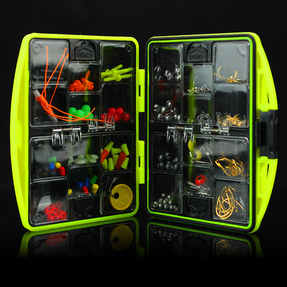 Fishing Tackle Boxes Kit 24 Kinds Fishing Hooks Multifunctional Fishing Tackle Kit Hooks Spoon Sinker Accessories Box Tools Set