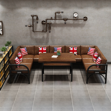 Mesa De Dj Bar Tables And Chairs Retro Industrial Style Combination Commercial Rest Area Barbecue  Shop Music  iron Sofa Holder