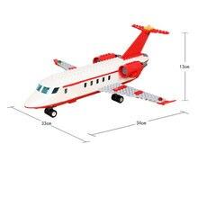 Сборные строительные блоки  частный самолет Обучающие игрушки