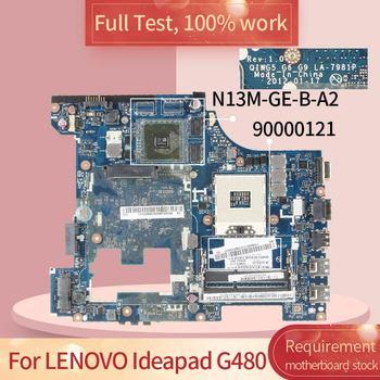 For LENOVO Ideapad G480 LA-7981P 90000121 SLJ8E N13M-GE-B-A2 Notebook motherboard Mainboard full test 100% work