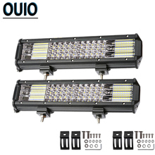 300W 12inch Off-road LED Light Bar 4-rows Combo Beam Work Light for 12V 24V 4x4 ATV SUV Truck Trailer Automotive Car Lights Lamp 4 rows 12inch 144w led light bar combo spot flood beam for off road 4x4 truck tractor boat suv atv auto car led work light bar