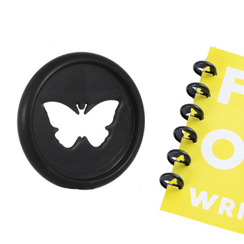 Butterfly Pattern Binding Disc Notebook Mushroom Hole Loose-leaf Plastic Disc Buckle A4 B6 Business Card A5 Mushroom Hole Cover