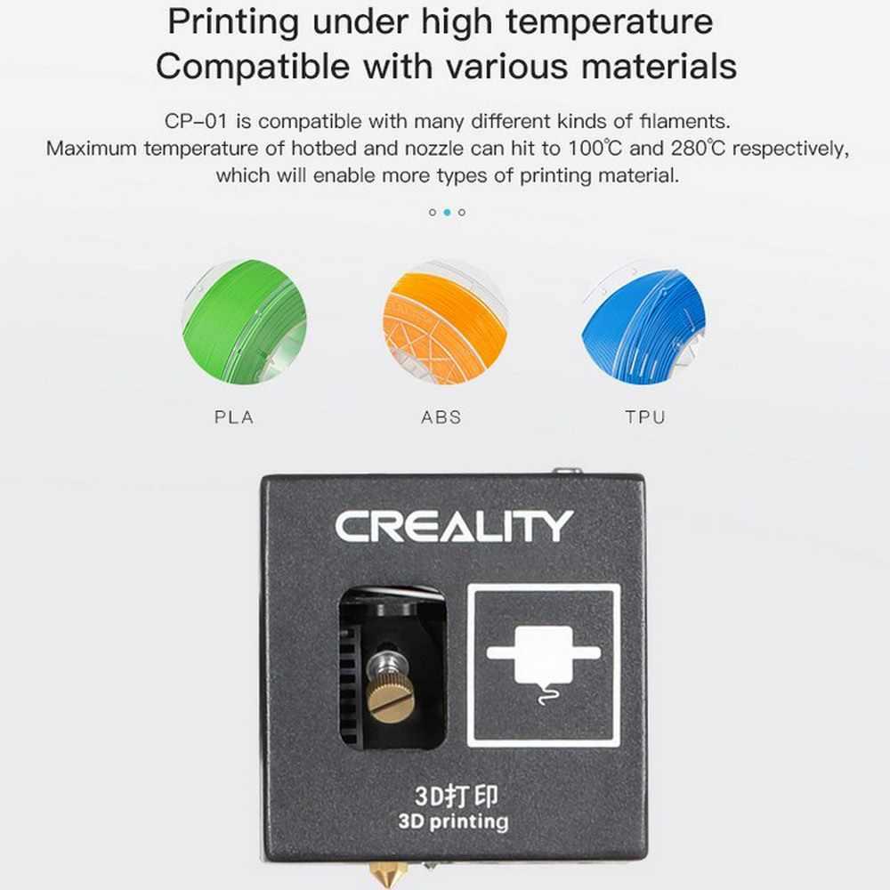Nouvelle création 3D imprimante Ender CP-01 FDM amélioré en option peut gravure laser CNC découpe 3D impression PLA ABS PVA 2019