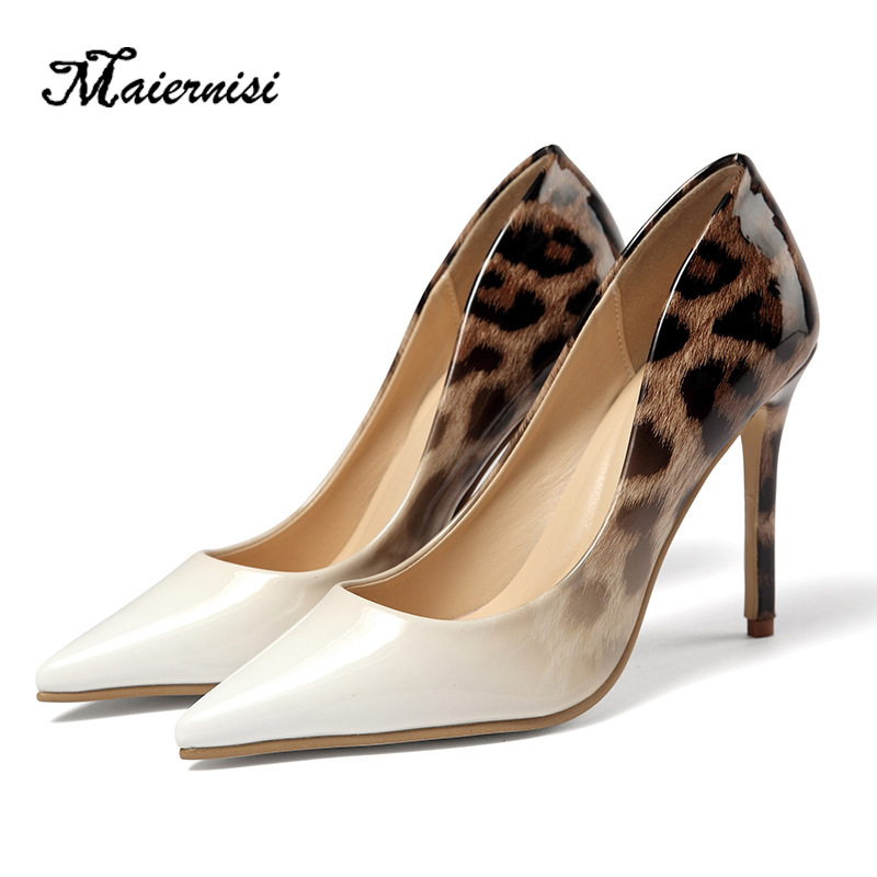 MAIERNISI Women 11cm High Heels Pumps Pointed Toe Luxury Elegant Lady Shoes High Heels Ladies Pumps Plus Size Sexy Pumps