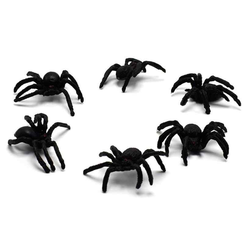 PVC Simulasi Laba-laba Lelucon Mainan Buatan Serangga Hewan Model Trik Mainan Pesta Novelty Mainan 3Y Lebih Tinggi