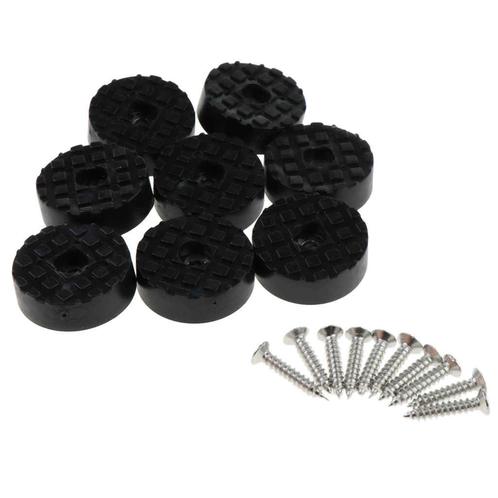8pcs Round Non-skid Rubber Feet Pad For Table Desk Chair Kitchen Cabinet With Built-in Washer Gaskets 30mm Diameter