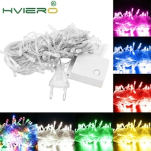 10M 100 LED String Decoration Light Multicolour Outdoor for Party Wedding Christmas Garden lights 220V/110V 8 Display Modes цена в Москве и Питере