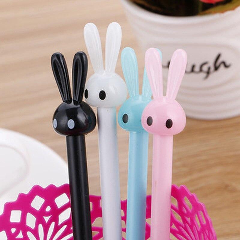 1pcs  Bunny Gel Pen 0.5mm Cute Pens Novelty Stationery Kawaii Pens Student Cute Black Signature Pen Kawaii School Supplies