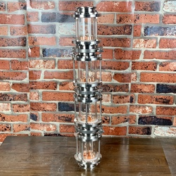 Clamp 3 Glass column for distillation. Pure Copper T2  bubble plates . Distiller. Moonshine Still
