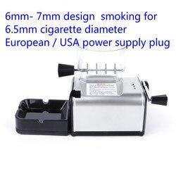 6.5 مللي متر سليم السجائر المتداول آلة الكهربائية جهاز لف السجائر الآلي التبغ الأسطوانة صانع السجائر أنبوب التدخين