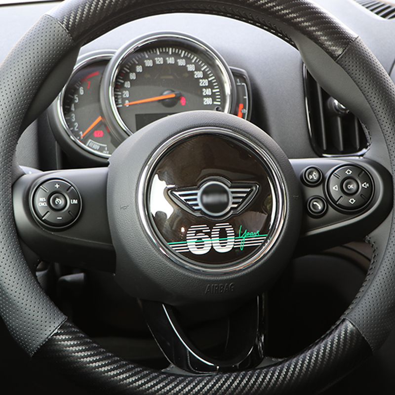 Car 60th Anniversary Sticker Steering Wheel Decoration For BMW MINI Cooper S JCW F54 F55 F56 F60 Clubman Car Styling Accessories