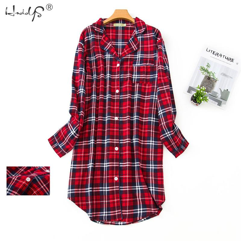 Plus Size Flannel Nightdress Women Sleepwear Plus Size Nightwear Long Sleeve 100% Cotton Fattening Lady's Household Clothes 1