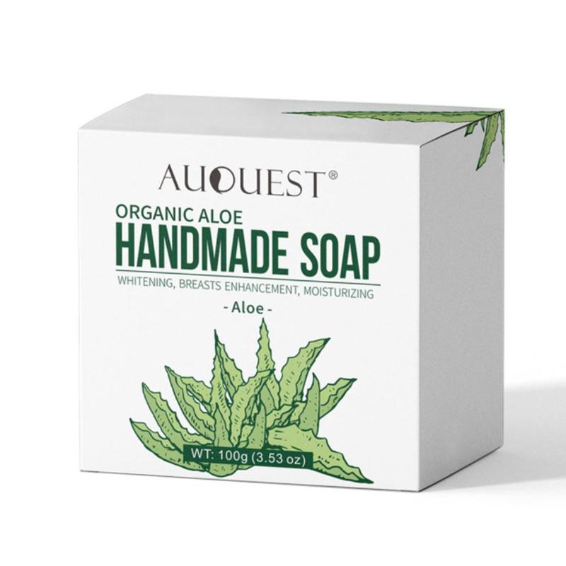 Auquest Papaya Rose Plant Handmade Essential Oil Soap Aloe Vera Facial Soap Bath Soap Deep Cleaning Skin Care Bamboo Charcoal