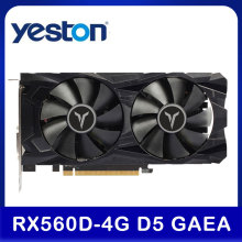 Yeston RX 560 D RX560D 4G D5 GAEA Graphic Card Dual Fan Cooling 4GB Memory GDDR5 128bit DP + HD + DVI-D GPU Video Card For PC
